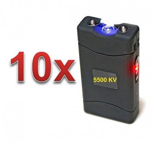 DEFENSAS ELECTRICAS MODELO 800 CON 5.500.000 VOLT CON LUZ LED PACK 10 UNIDADES
