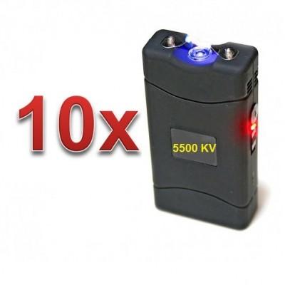 DEFENSAS ELECTRICAS MODELO 800 CON 5.500.000 VOLT CON LUZ LED PACK 10 UNIDADES