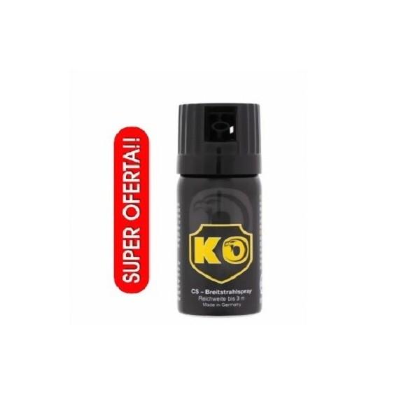 SPRAY DEFENSA PERSONAL MODELO KO GAS CS 40 ML ALCANCE HASTA 3 METROS