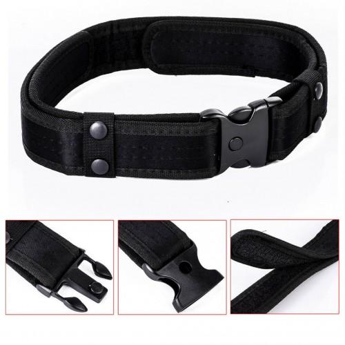Cinturon tactico en nylon balistico de alta resistencia en color negro para uso profesional