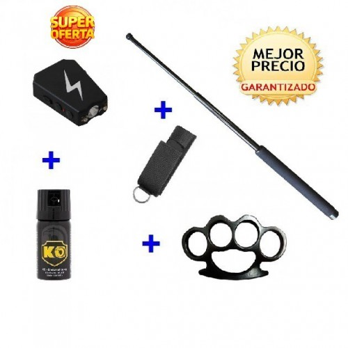 DEFENSA ELECTRICA MOD. 800 + DEFENSA EXTENSIBLE + FUNDA+ SPRAY DEFENSA KO 40 ML