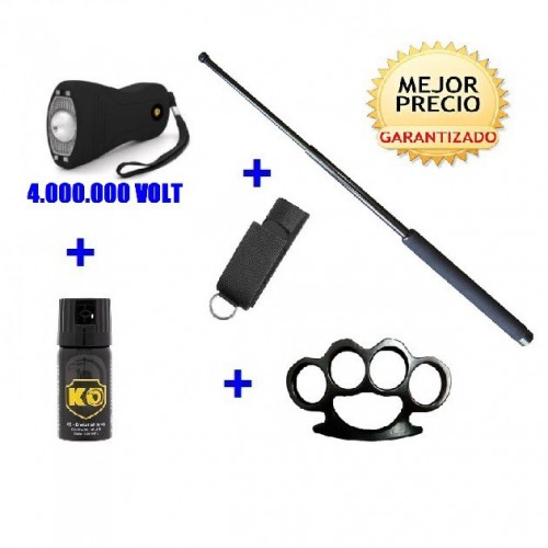 DEFENSA ELECTRICA MOD. 4001 + DEFENSA EXTENSIBLE + FUNDA+ SPRAY DEFENSA KO 40 ML