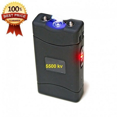 DEFENSA ELECTRICA TASER MOD. 800 CON 5.500.000 VOLT. RECARGABLE CON LINTERNA LUZ LED