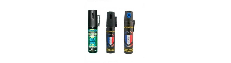 Sprays defensa personal gas cs contra atacantes y animales peligrosos